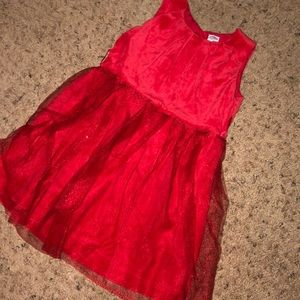Carters 4T red sparkly dress